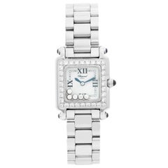 Chopard Happy Sport Ladies 5 Floating Diamonds Stainless Steel Watch
