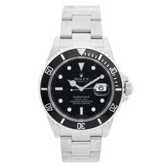 Collectors Rolex Submariner 16610 Stainless Steel Men's Watch