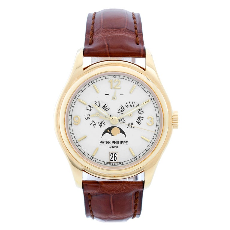 Patek Philippe Annual Calendar Yellow Gold Men's Moonphase Watch 5146J '5146 J' For Sale