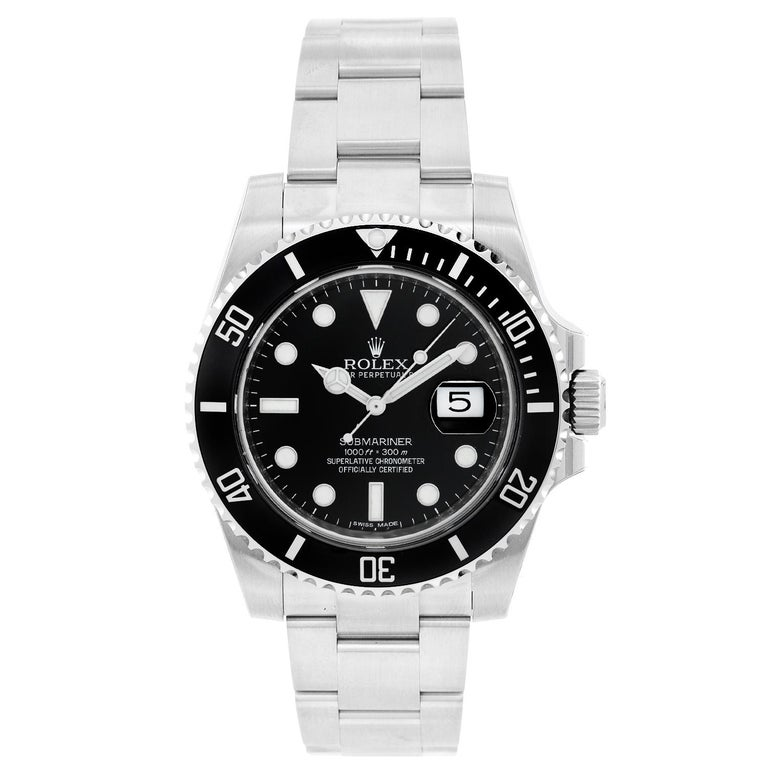 Rolex Submariner Men's Stainless Steel Watch 116610 For Sale