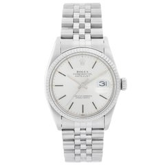 Rolex Datejust Men's Stainless Steel Watch Silver Dial 16014