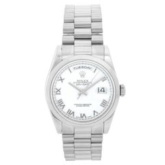 Rolex President Day-Date Men's 18 Karat White Gold Watch 118209