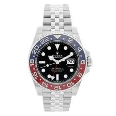 "Rolex GMT, Master II 126710 BLRO Stainless Steel Men's Watch ""Pepsi"""