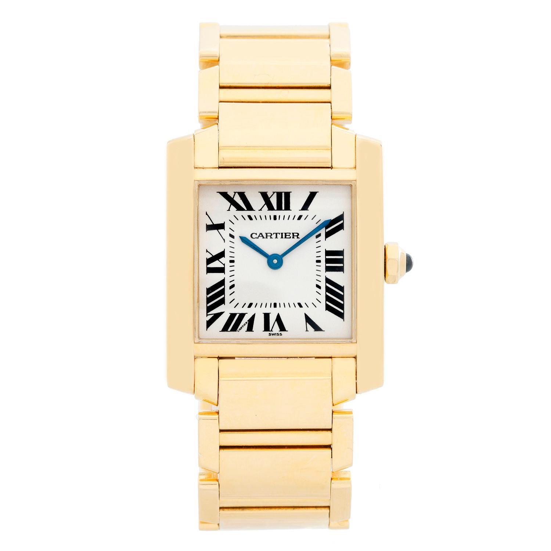 a5671870a6d Cartier Yellow Gold Tank Francaise Midsize Quartz Wristwatch Ref W50003N2 at  1stdibs