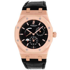 Audemars Piguet Rose Gold Royal Oak Dual Time Power Reserve Wristwatch