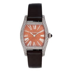Girard-Perregaux Lady's White Gold Richeville Two Hands Diamond Wristwatch