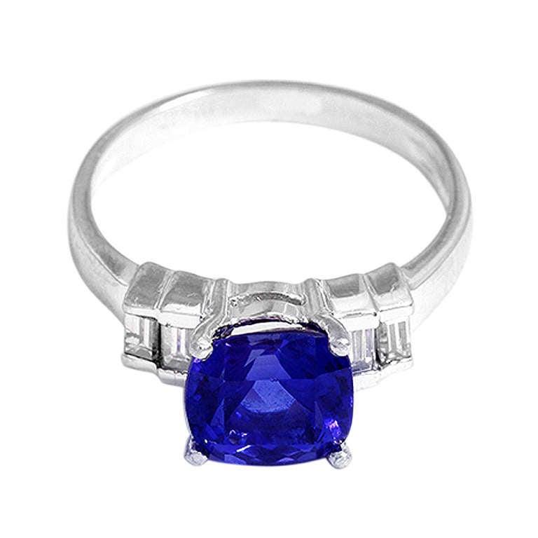 stunning platinum tanzanite ring at 1stdibs