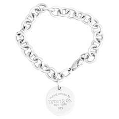 Tiffany & Co. Return To Tiffany Round Tag Sterling Silver Bracelet