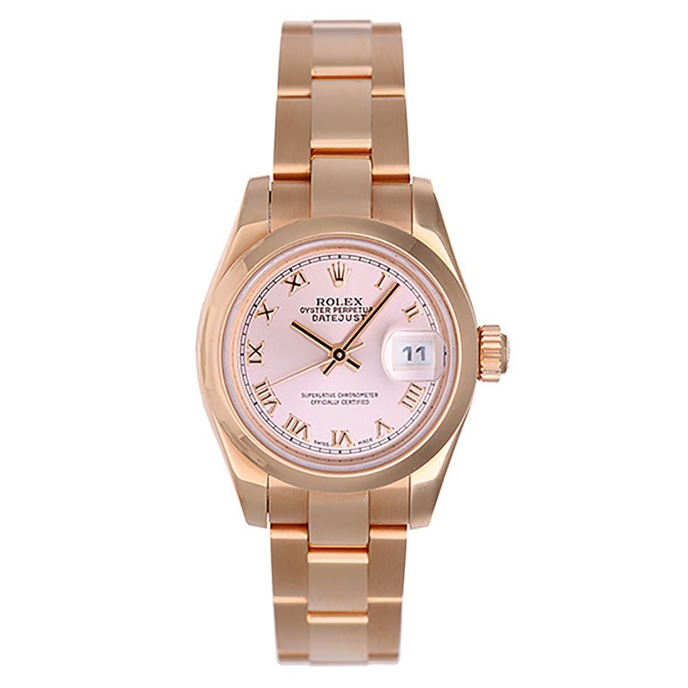 Rolex Lady's Rose Gold President Rose Gold Watch 179165 Pink Dial 1