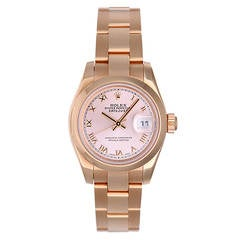 Rolex Lady's Rose Gold President Rose Gold Watch 179165 Pink Dial