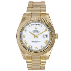 Rolex Yellow Gold Day-Date II President Wristwatch Ref 218238