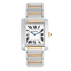 Cartier Stainless Steel Tank Francaise Quartz Wristwatch Ref W51012Q4