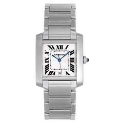 Cartier Stainless Steel Tank Francaise Automatic Wristwatch