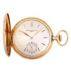 Patek Philippe Yellow Gold Hunting Case Pocket Watch
