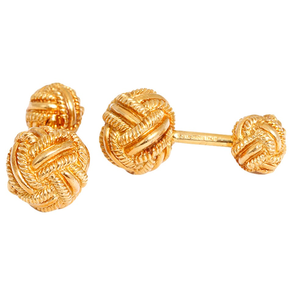 f1e44ccd4 ... tiffany co. schlumberger gold knot cufflinks 1 ...