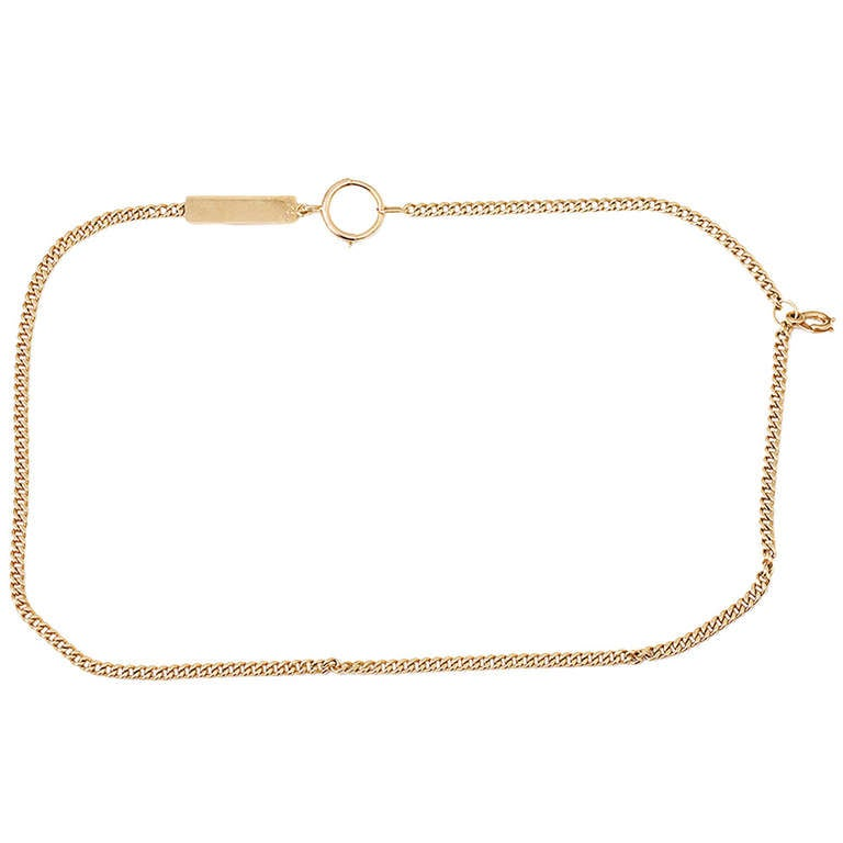 Vintage Tiffany Yellow Gold Pocket Watch Chain or Necklace For Sale