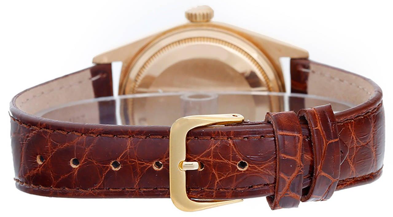 Rolex Yellow Gold President Day-Date Wristwatch Ref 18038 2
