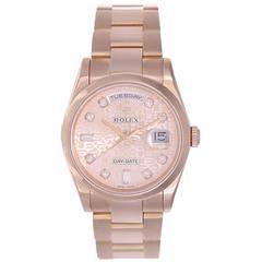 Rolex Rose Gold President Day-Date Wristwatch Ref 50938B