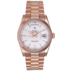 Rolex Rose Gold President Day-Date Wristwatch Ref 118205