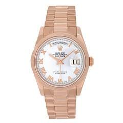 Rolex Rose Gold President Day/Date Wristwatch Ref 118205