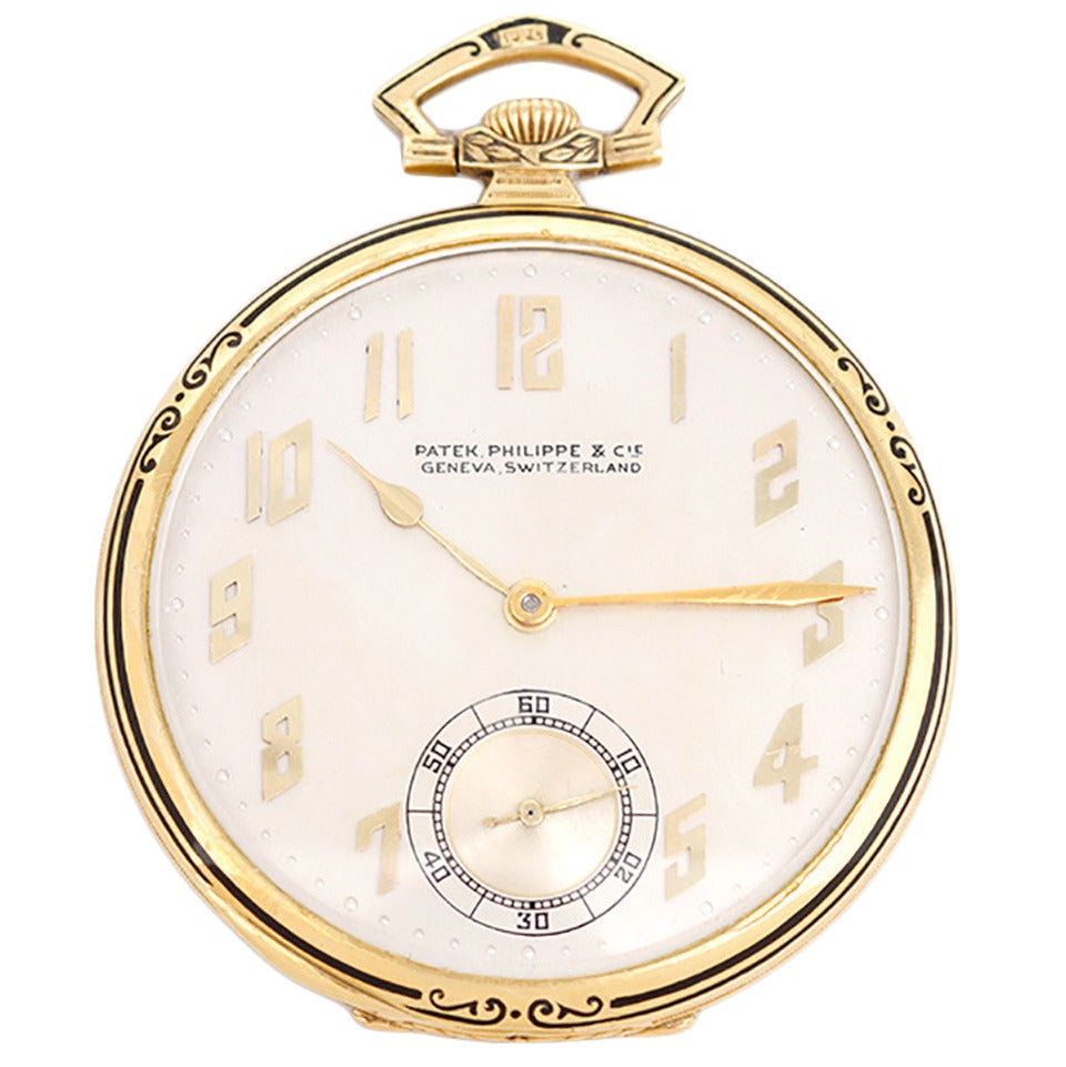 patek philippe yellow gold manual wind pocket at 1stdibs