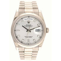 Rolex White Gold President Day-Date Automatic Wristwatch Ref 118209
