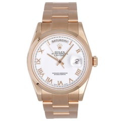 Rolex Rose Gold President Day-Date Automatic Wristwatch Ref 118205