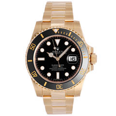 Rolex Yellow Gold Submariner Diver's Automatic Wristwatch Ref 116618