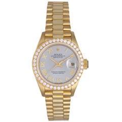 Rolex Lady's Yellow Gold President Automatic Wristwatch Ref 69178