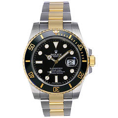 Rolex Yellow Gold Stainless Steel Submariner Automatic Wristwatch Ref 116613