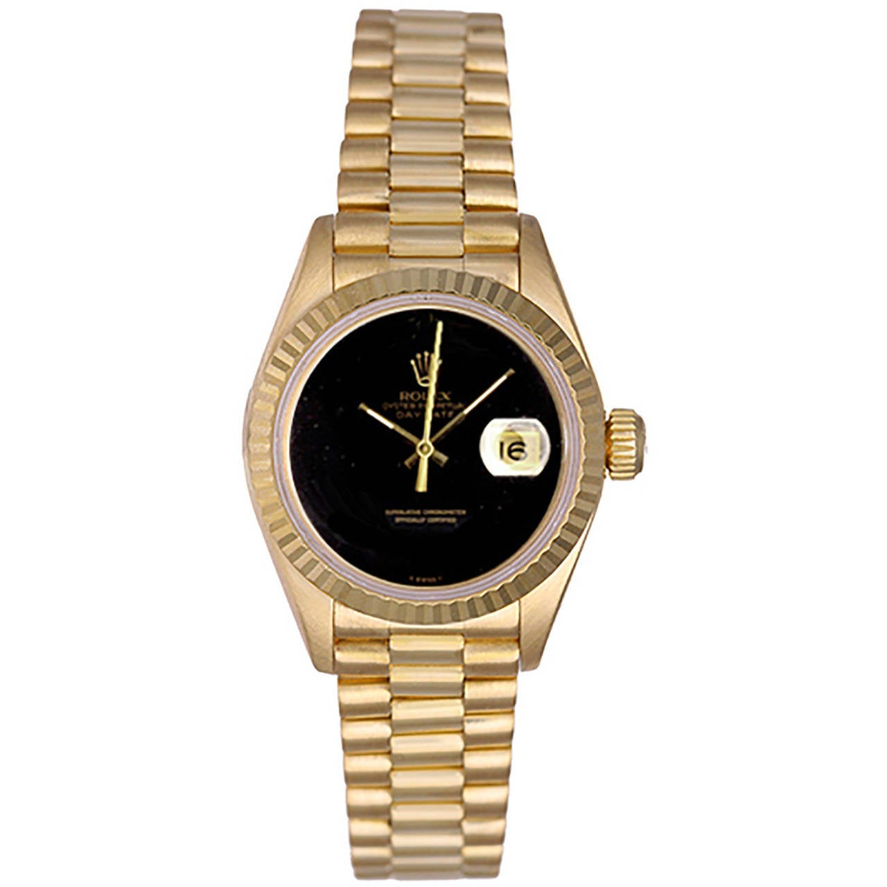 Rolex Lady's Yellow Gold President Wristwatch Ref 69178 For Sale