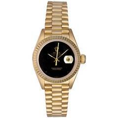 Rolex Lady's Yellow Gold President Wristwatch Ref 69178