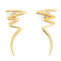 Tiffany & Co. Paloma Picasso Yellow Gold Zig-Zag Earrings, ca.1983