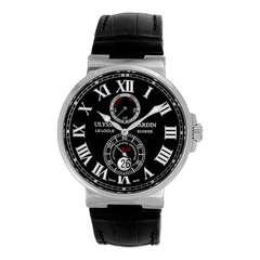 Ulysse Nardin Stainless Steel Maxi Marine Chronometer Wristwatch