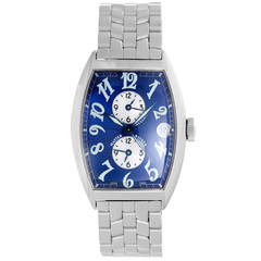 Franck Muller Stainless Steel Master Banker 3 Time Zone Automatic Wristwatch