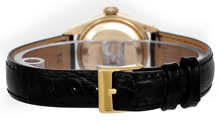 Rolex Lady's Yellow Gold Datejust Wristwatch with Custom Diamond Bezel Ref 6917 2