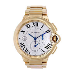 Cartier Ballon Bleu Chronograph Yellow Gold Men's Watch W6920008