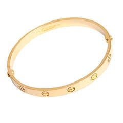 Cartier Love Bracelet Yellow Gold Size 17 with Papers and Screwdriver