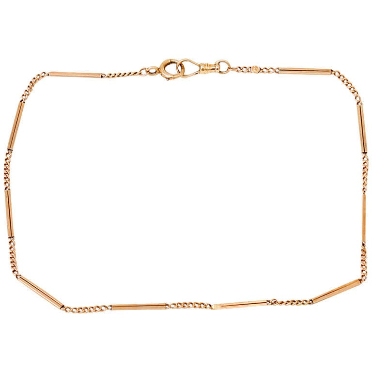 Vintage Rose Gold 15-inch Pocket Watch Chain  9.8 grams