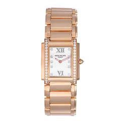 Patek Philippe Lady's Rose Gold and Diamond Twenty-4 Bracelet Watch Ref 4910/11R