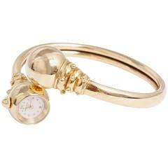 Universal Geneve Lady's Yellow Gold Bangle Wristwatch