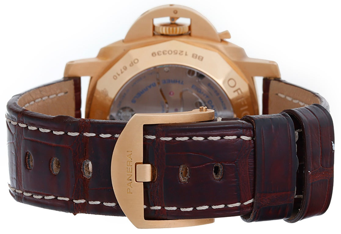 Panerai Luminor Rose Gold 8 Day Chronograph PAM 277 ...