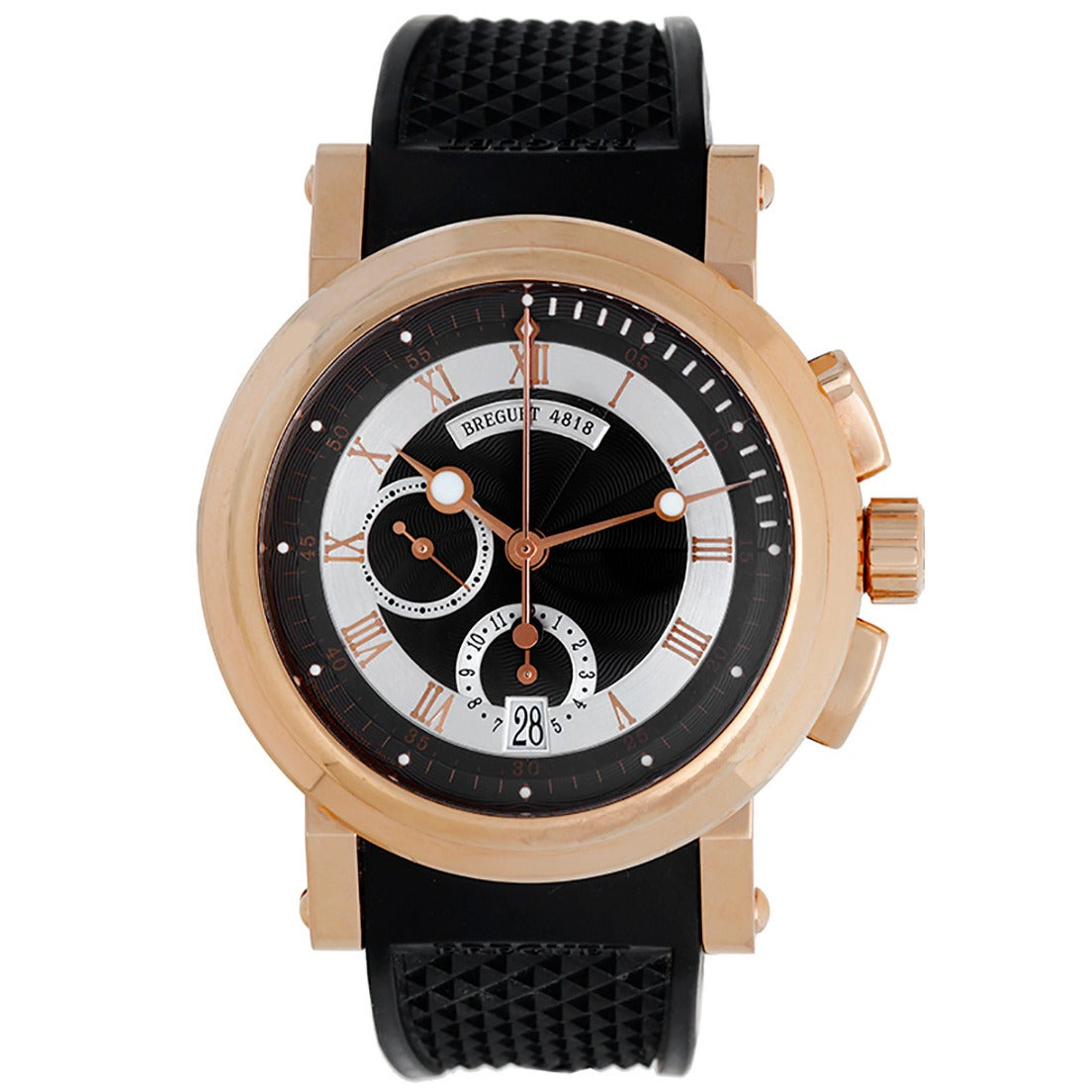Breguet Rose Gold Marine II Big Date Flyback Chronograph Wristwatch