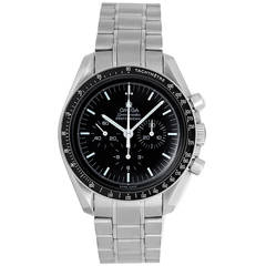 Omega Stainless Steel Speedmaster Professional Man on the Moon Wristwatch