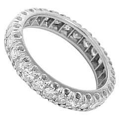 Sparkling Diamond and Platinum Eternity Band Sz. 6.5