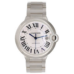 Cartier White Gold Ballon Bleu Automatic Wristwatch Ref W69003Z2