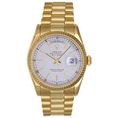 Rolex Yellow Gold Day-Date President Wristwatch Ref 118238 with White Dial