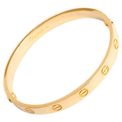 Cartier Love Bracelet Yellow Gold Size 16 with Screwdriver