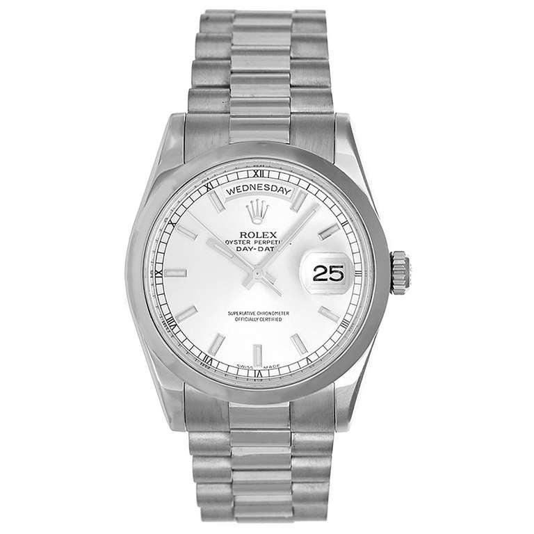 Rolex White Gold Day-Date President Wristwatch Ref 118209 1