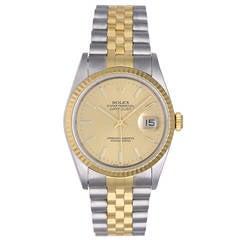 Rolex Datejust 2-Tone Men's Steel & Gold Watch 16233 NOS
